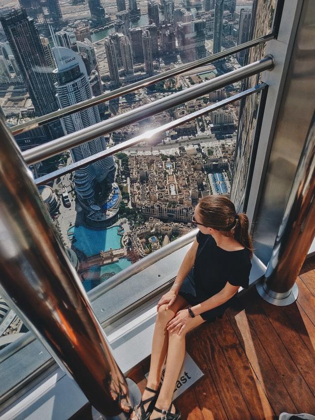 Kilátás a Burj Khalifából